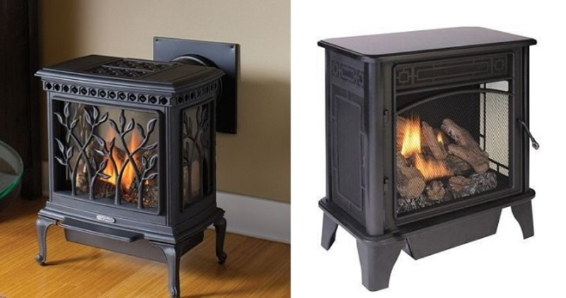 Gas Log Fire Heater